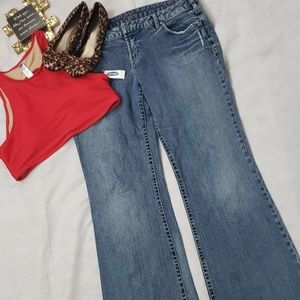 Plus SILVER bootcut  jeans size 36